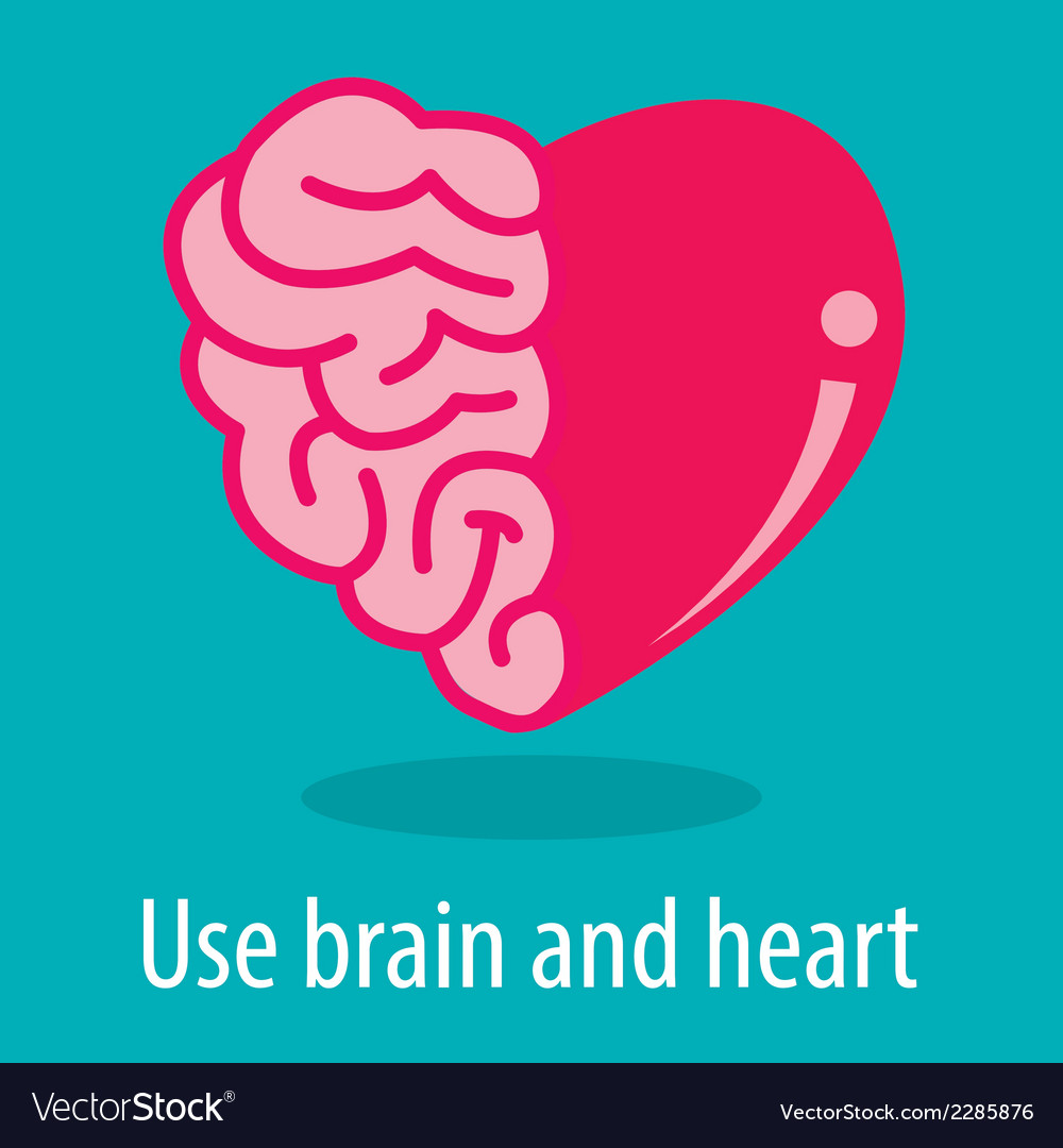 Brain and heart vector | Price: 1 Credit (USD $1)