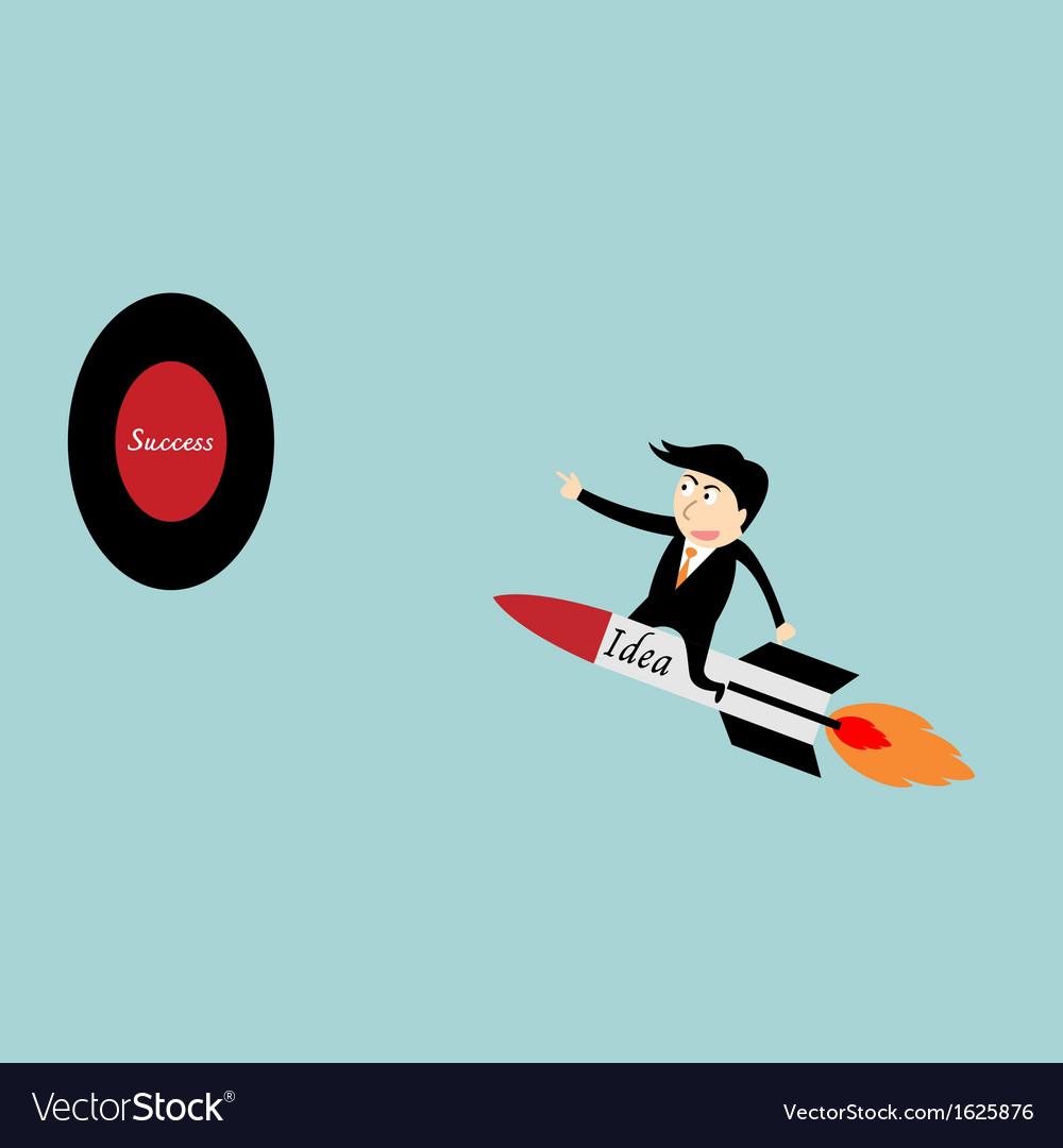 Businessman rocket idea vector | Price: 1 Credit (USD $1)