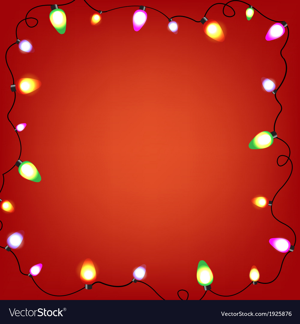 Colorful bulb garland vector | Price: 1 Credit (USD $1)