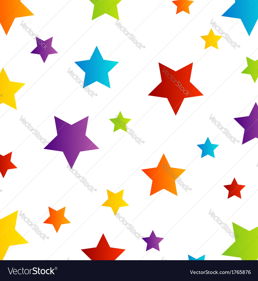 Colorful star background vector | Price: 1 Credit (USD $1)