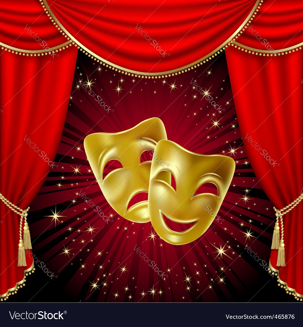 Comedy tragedy mask vector | Price: 1 Credit (USD $1)