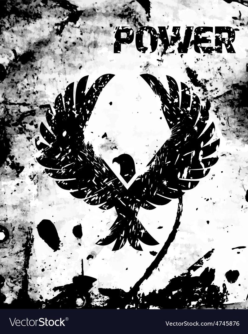 Eagle black poster vector | Price: 1 Credit (USD $1)