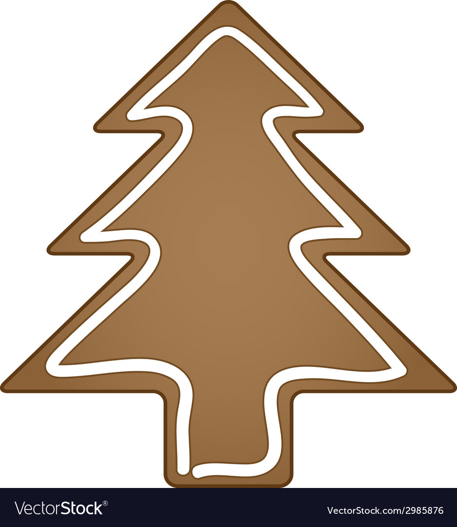 Gingerbread christmas tree vector | Price: 1 Credit (USD $1)