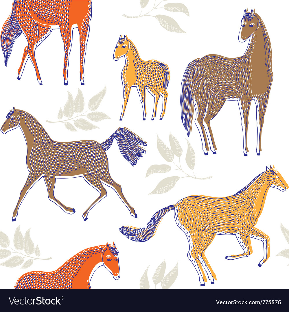 Horse drawing screenprint vector | Price: 1 Credit (USD $1)