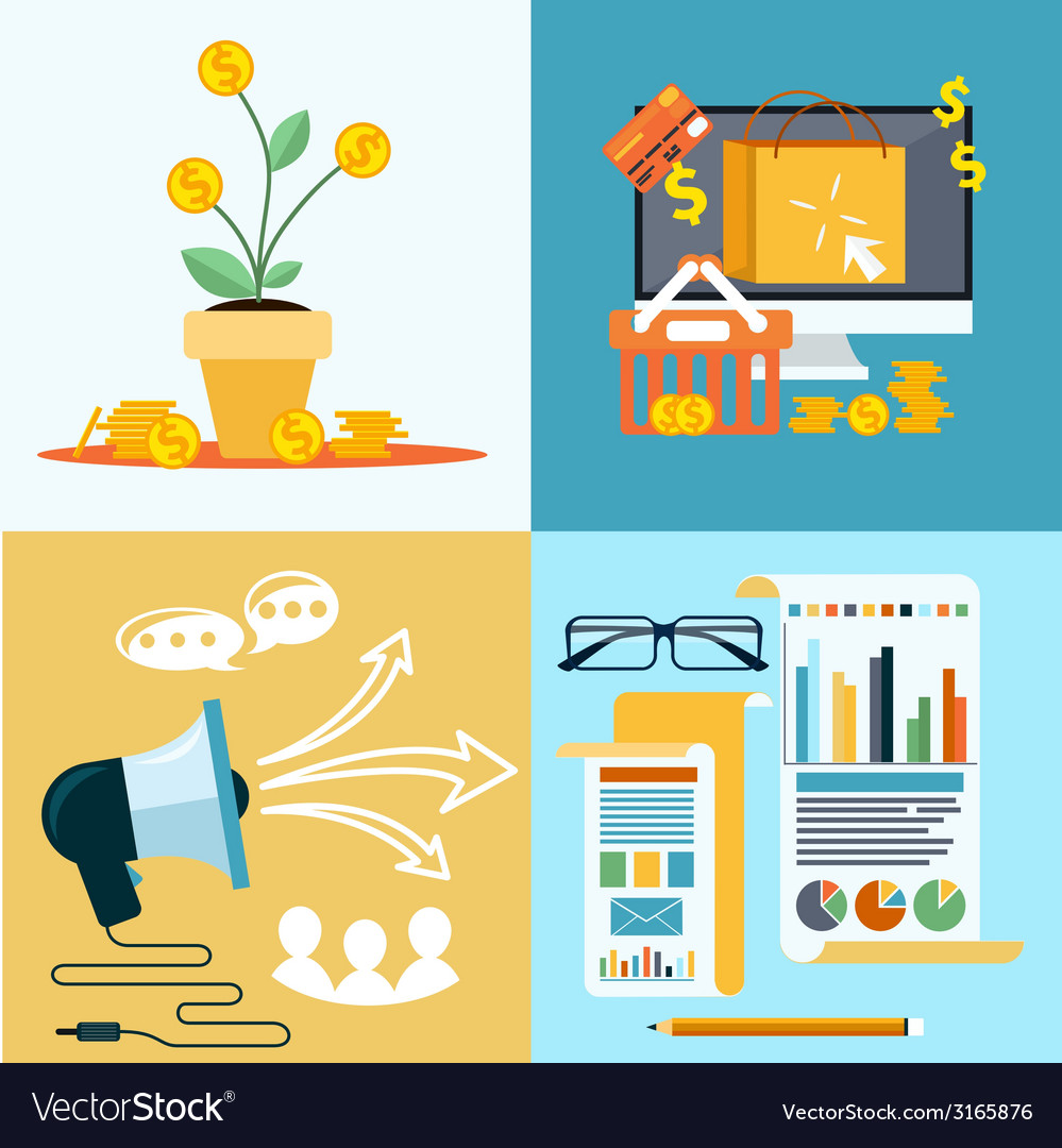 Icons for seo social media online shopping vector | Price: 1 Credit (USD $1)