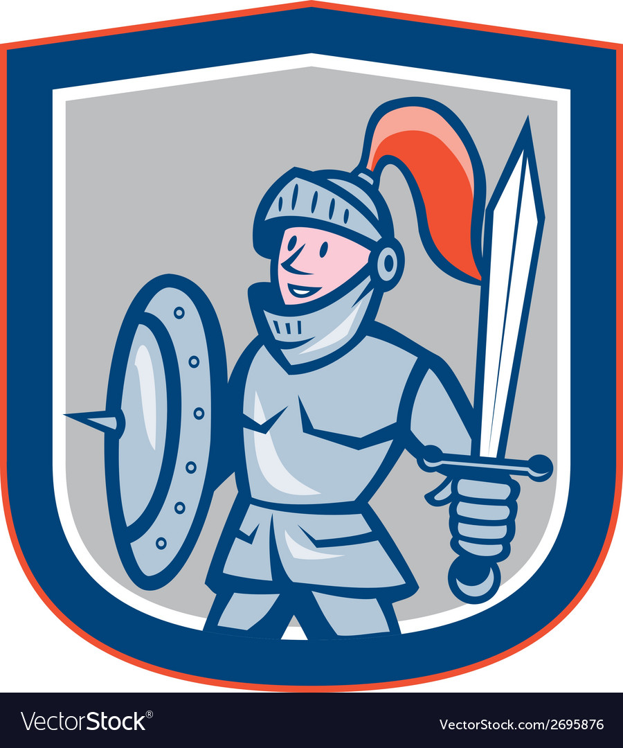 Knight shield sword shield cartoon vector | Price: 1 Credit (USD $1)