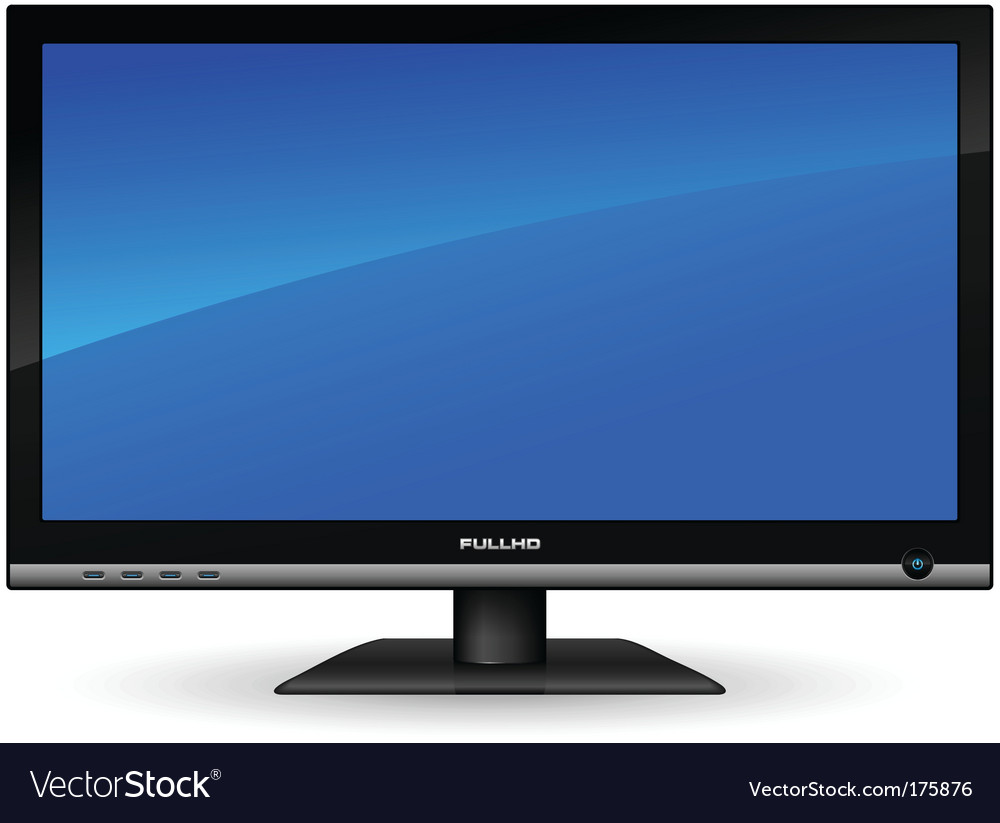 Plasma lcd tv vector | Price: 1 Credit (USD $1)