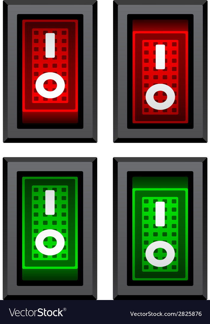 Rectangle toggle power switches vector | Price: 1 Credit (USD $1)