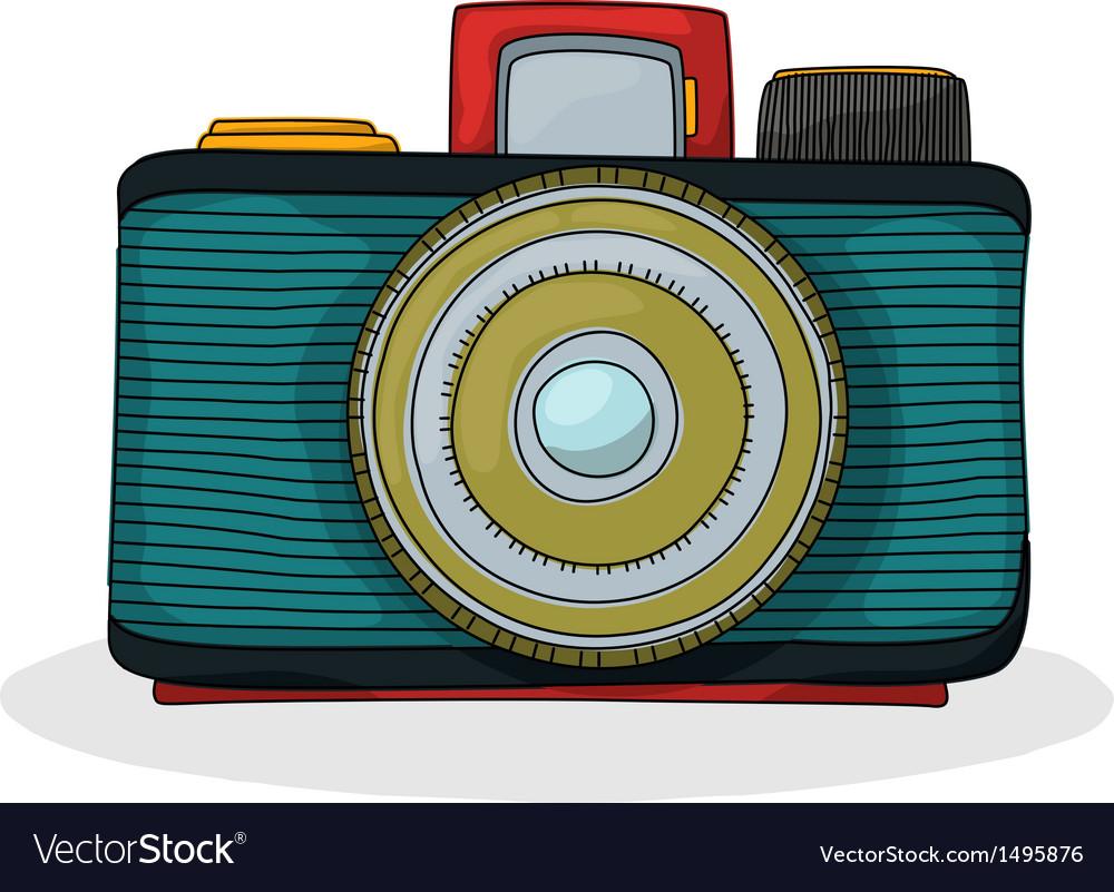 Retro cartoon camera vector | Price: 1 Credit (USD $1)