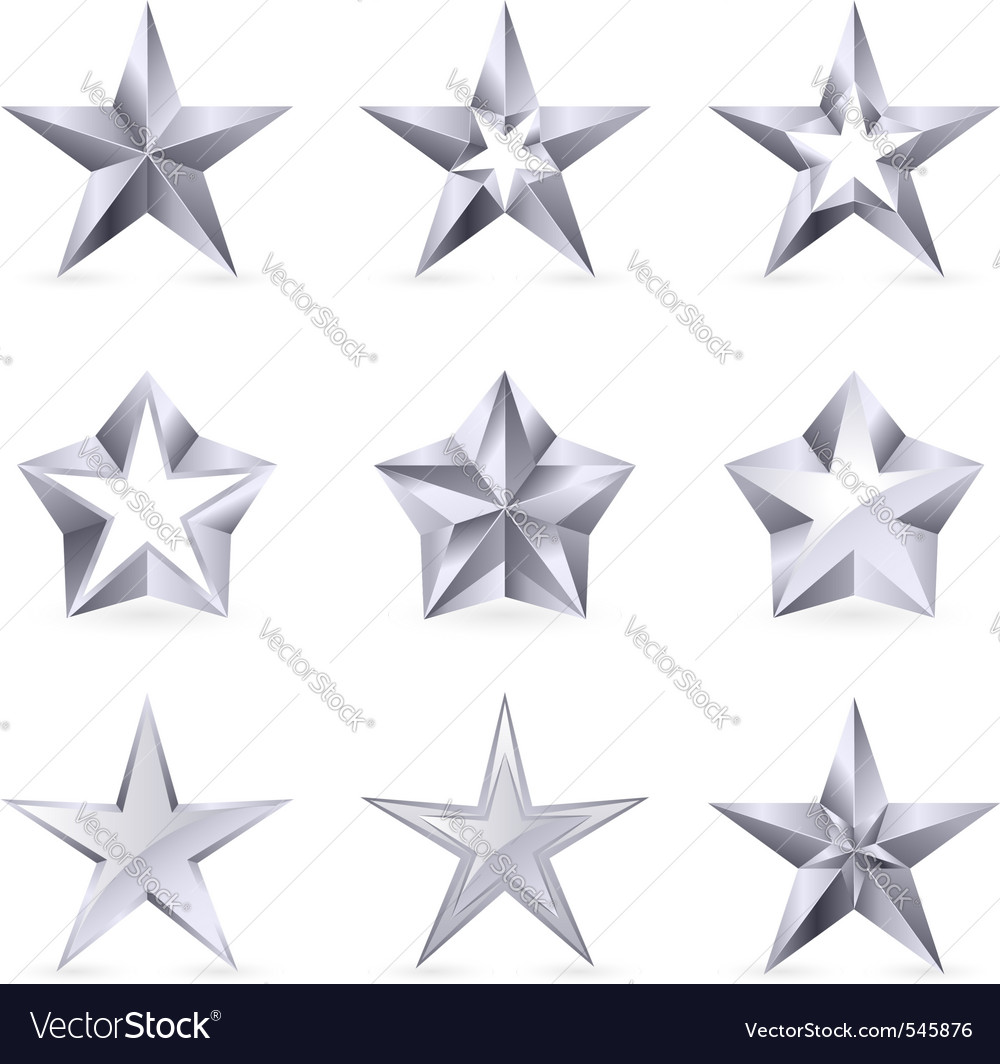 Silver stars vector | Price: 1 Credit (USD $1)