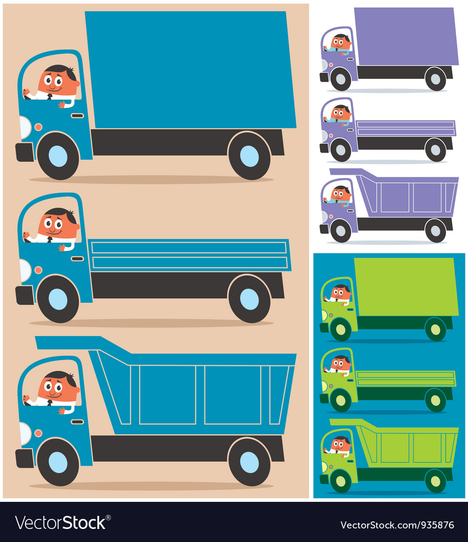 Truck driver vector | Price: 1 Credit (USD $1)