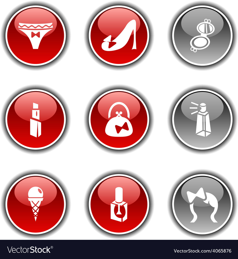 Women buttons vector | Price: 1 Credit (USD $1)