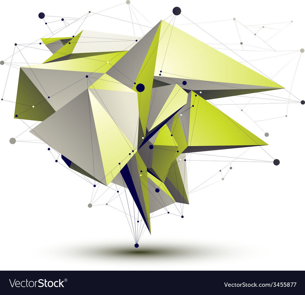 3d abstract design object polygonal complicated vector | Price: 1 Credit (USD $1)