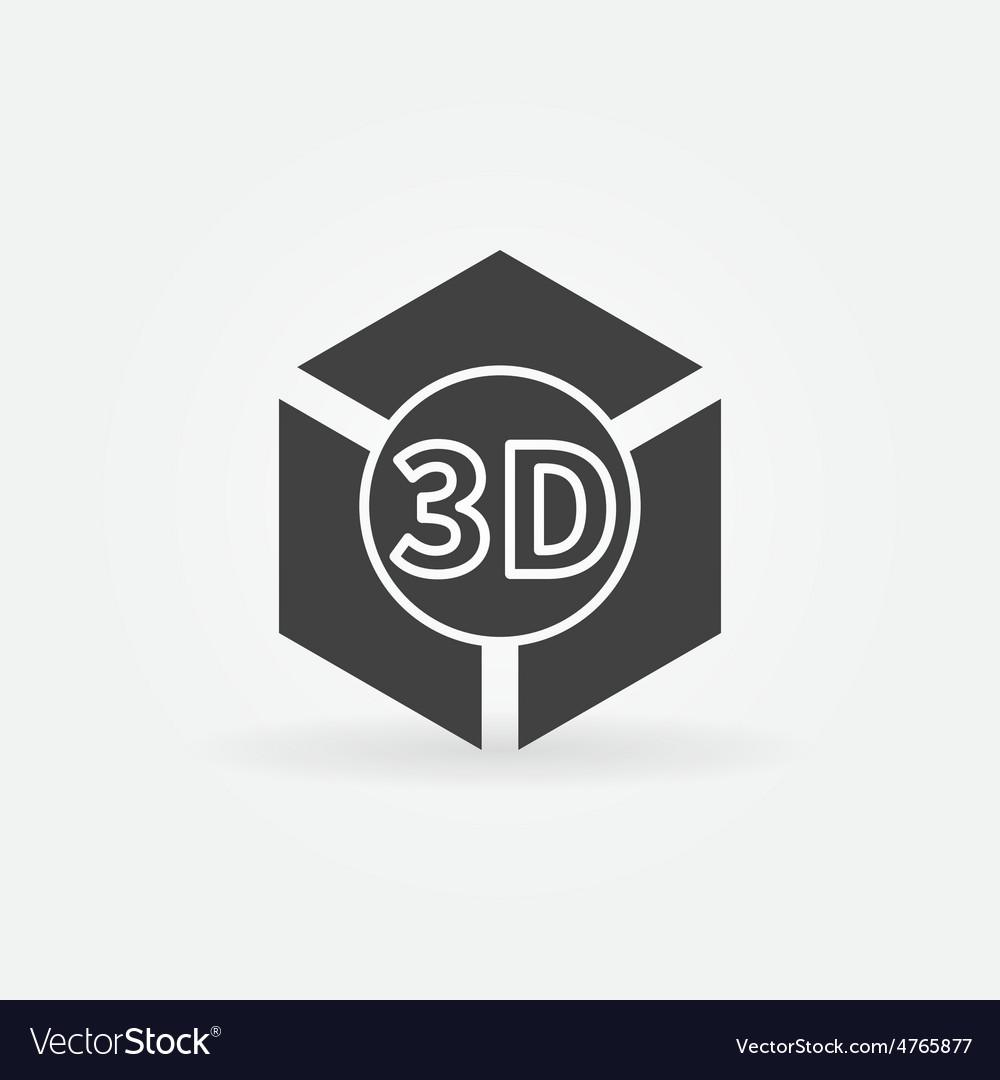 3d print logo or icon vector | Price: 1 Credit (USD $1)