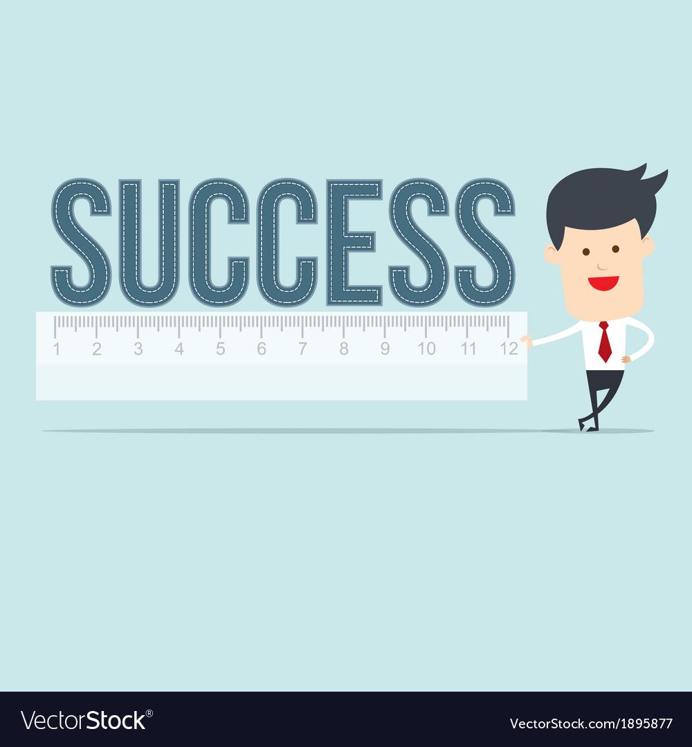 Business man user ruler measure vector   Price: 1 Credit (USD $1)