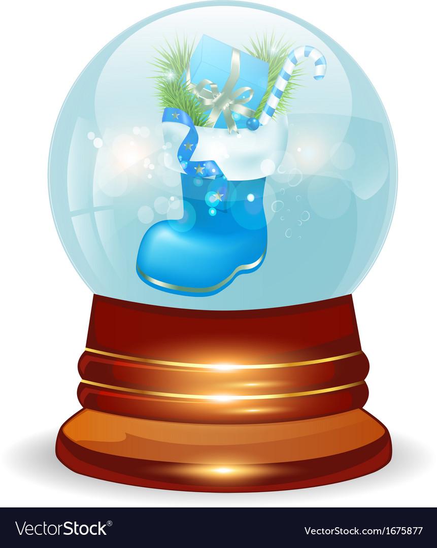 Christmas decorative snow ball vector | Price: 1 Credit (USD $1)