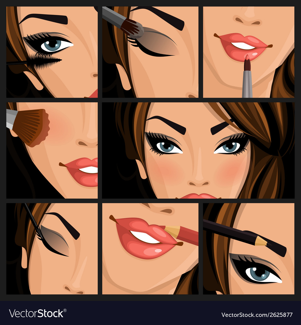 Make-up beauty woman vector | Price: 1 Credit (USD $1)