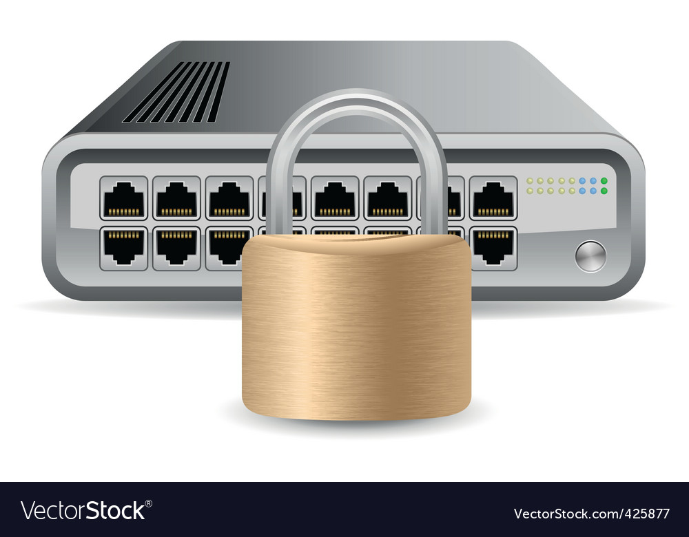 Network security concept vector | Price: 1 Credit (USD $1)