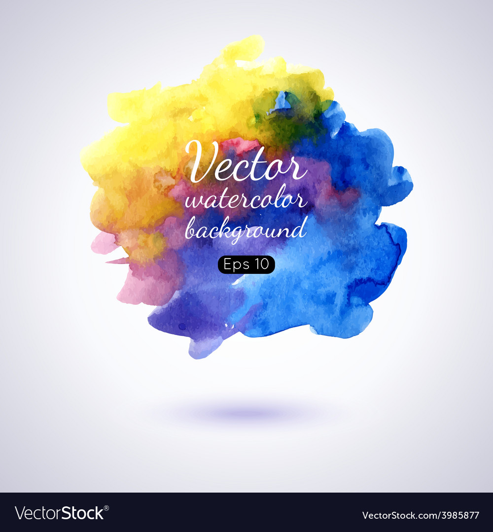 Set of watercolor stains vector   Price: 1 Credit (USD $1)