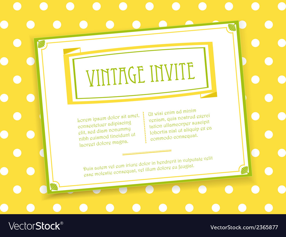 Vintage invite landscape vector | Price: 1 Credit (USD $1)