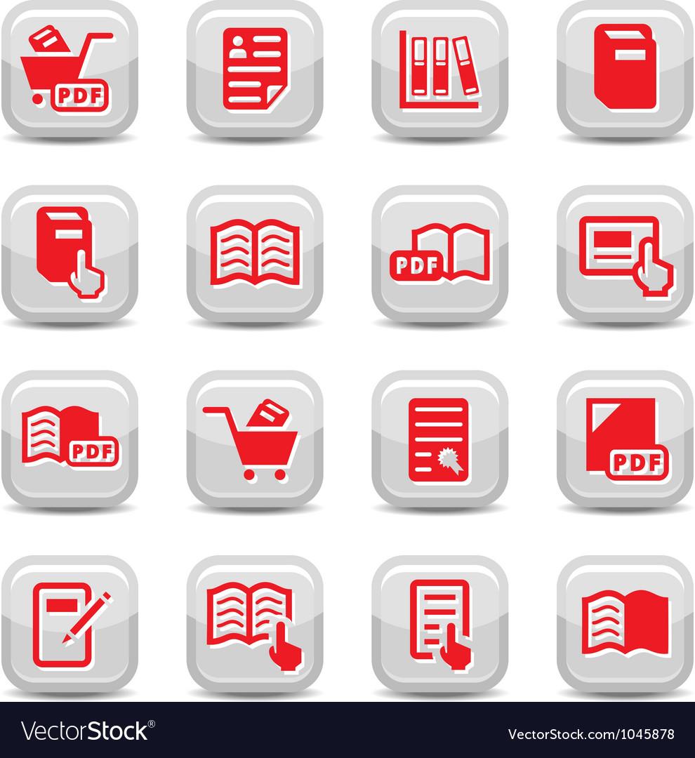Books icons set vector | Price: 1 Credit (USD $1)