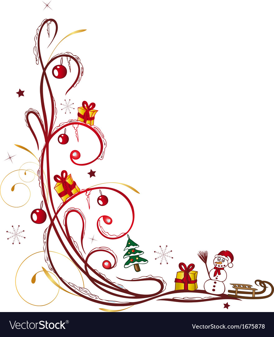 Christmas tendril winter vector | Price: 1 Credit (USD $1)
