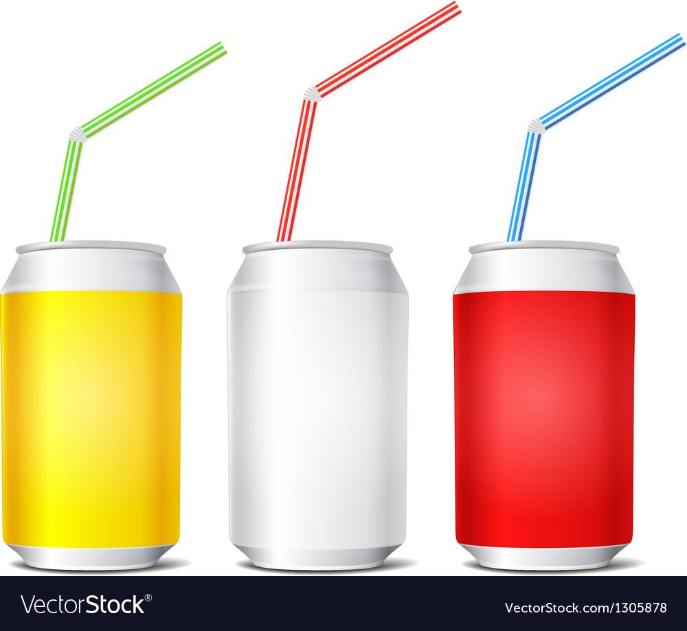 Collection of colorful steel cans vector | Price: 1 Credit (USD $1)