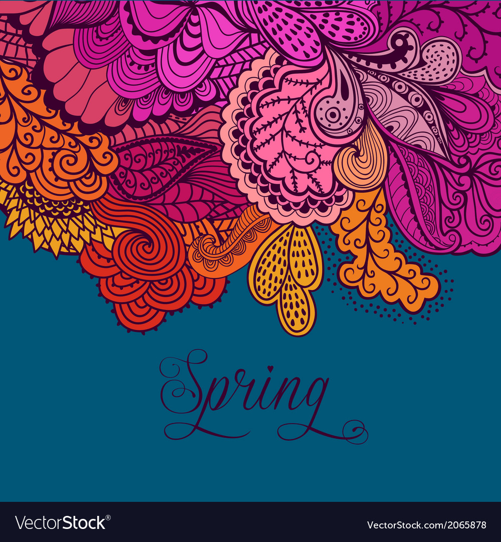 Decorative element lace border spring lettering vector   Price: 1 Credit (USD $1)