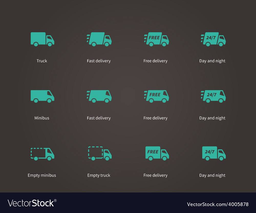 Delivery service icons vector | Price: 1 Credit (USD $1)