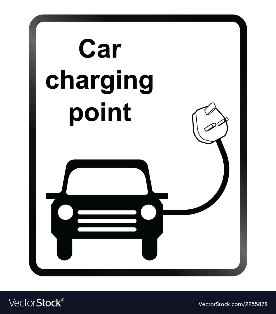 Electric car information sign vector | Price: 1 Credit (USD $1)