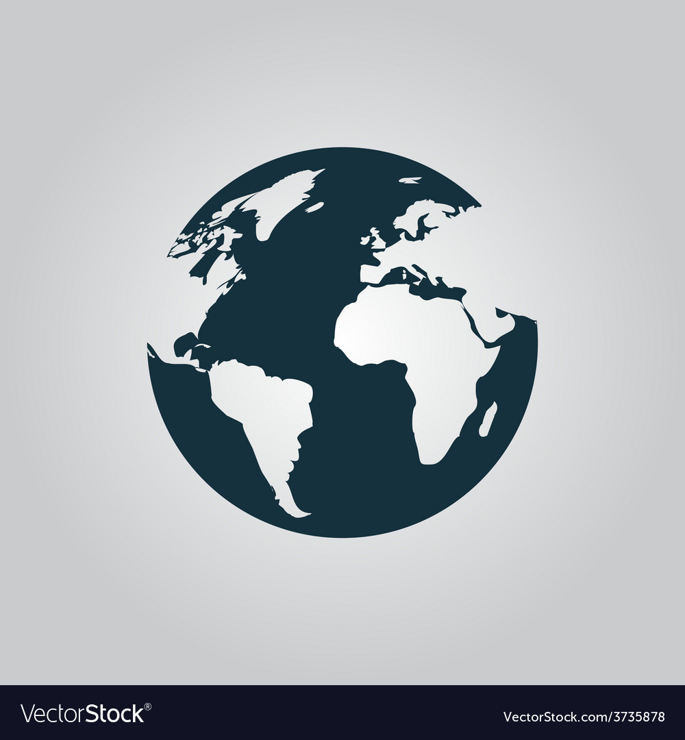 Globe earth icons on grey background vector | Price: 1 Credit (USD $1)
