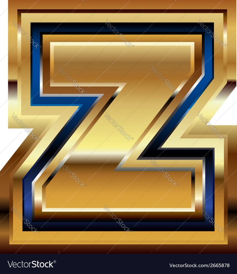 Golden font letter z vector | Price: 1 Credit (USD $1)