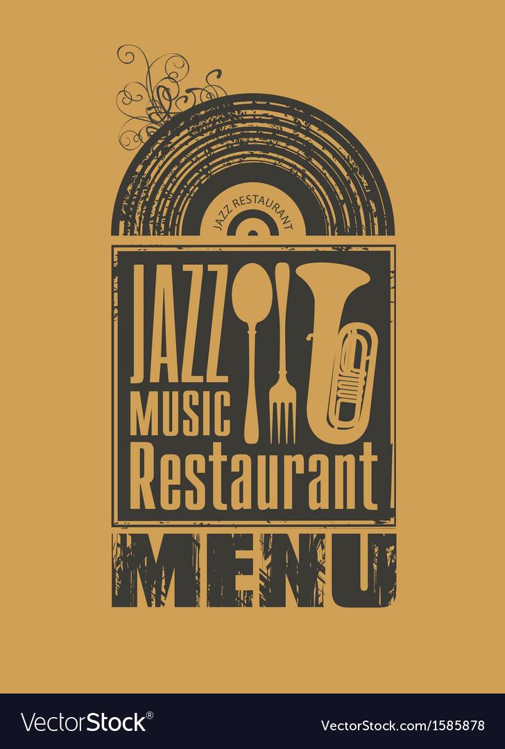 Jazz restaurant vector | Price: 1 Credit (USD $1)