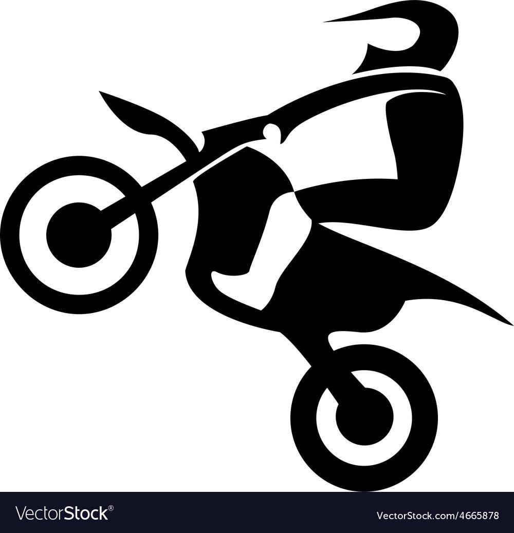 Motocross enduro rider vector | Price: 1 Credit (USD $1)