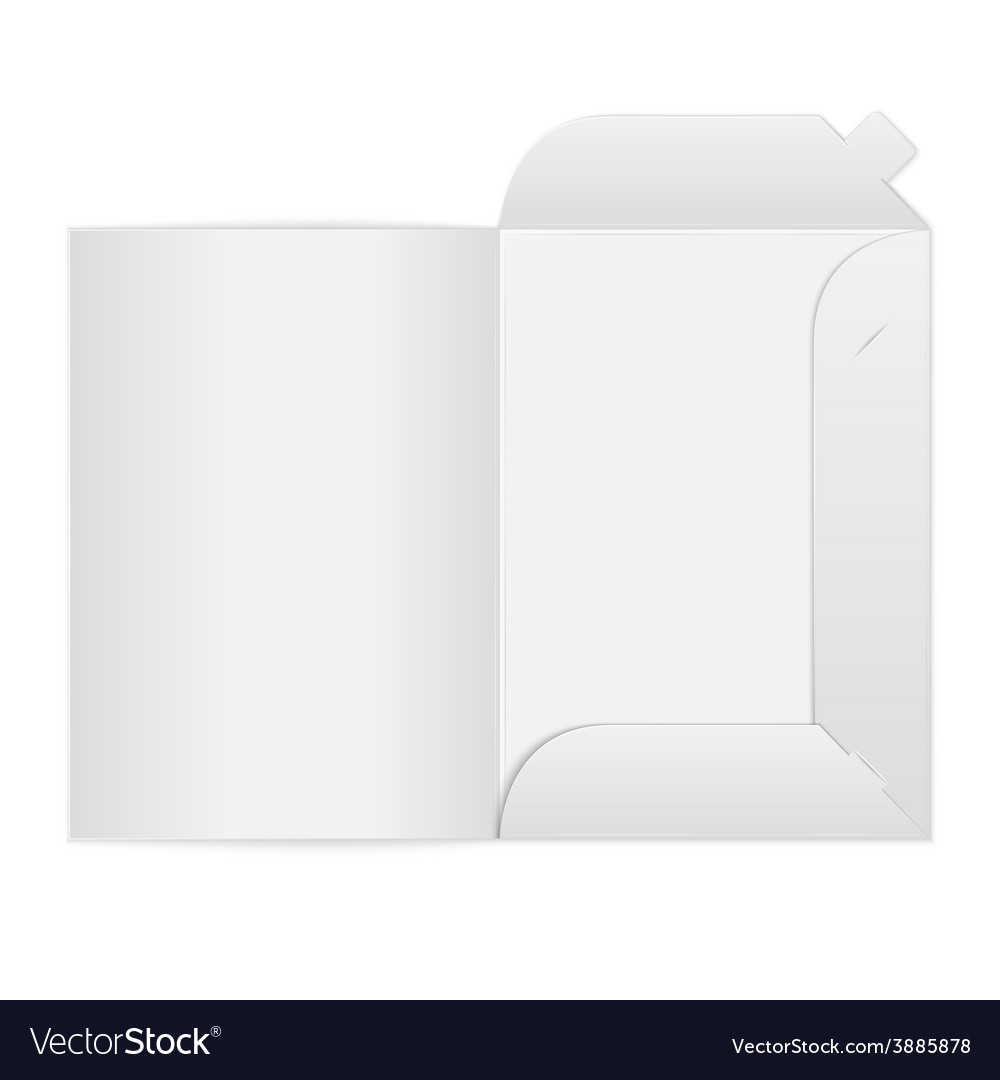 White open folder on white background vector | Price: 1 Credit (USD $1)