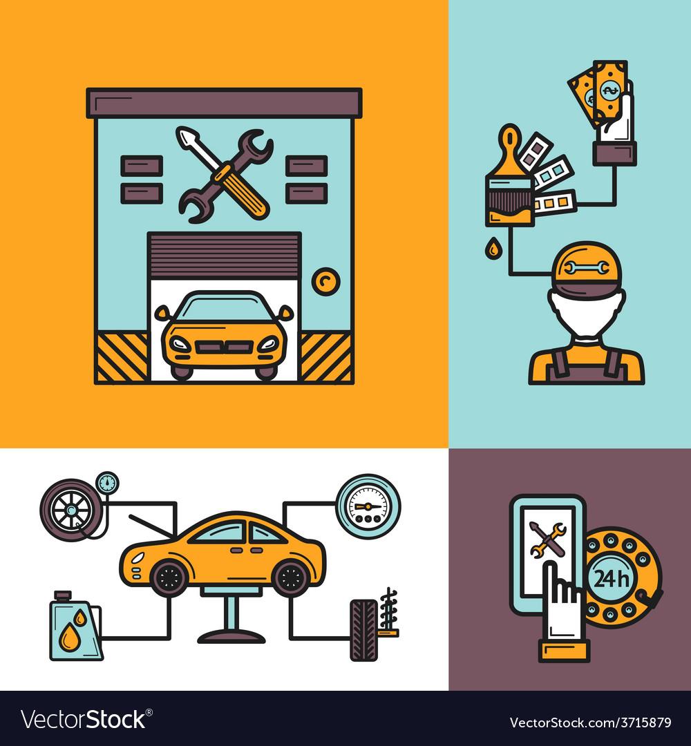 Auto service concept vector   Price: 1 Credit (USD $1)