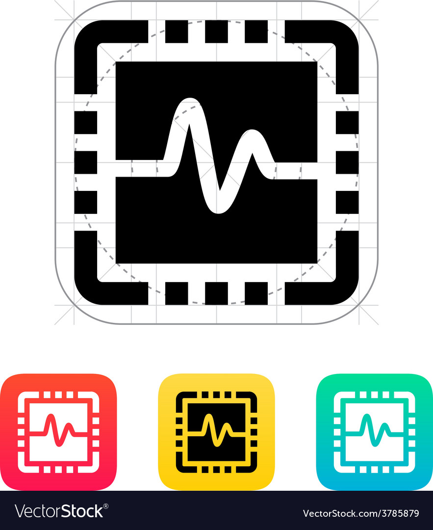 Cpu monitoring icon vector | Price: 1 Credit (USD $1)