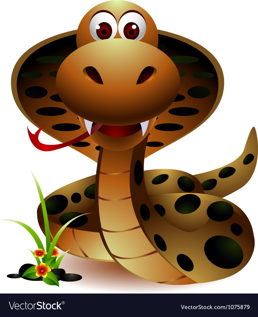 Funny snake cartoon vector | Price: 3 Credit (USD $3)