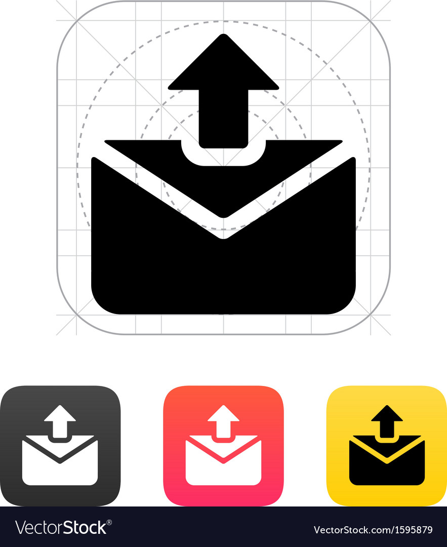 Sending mail icon vector | Price: 1 Credit (USD $1)