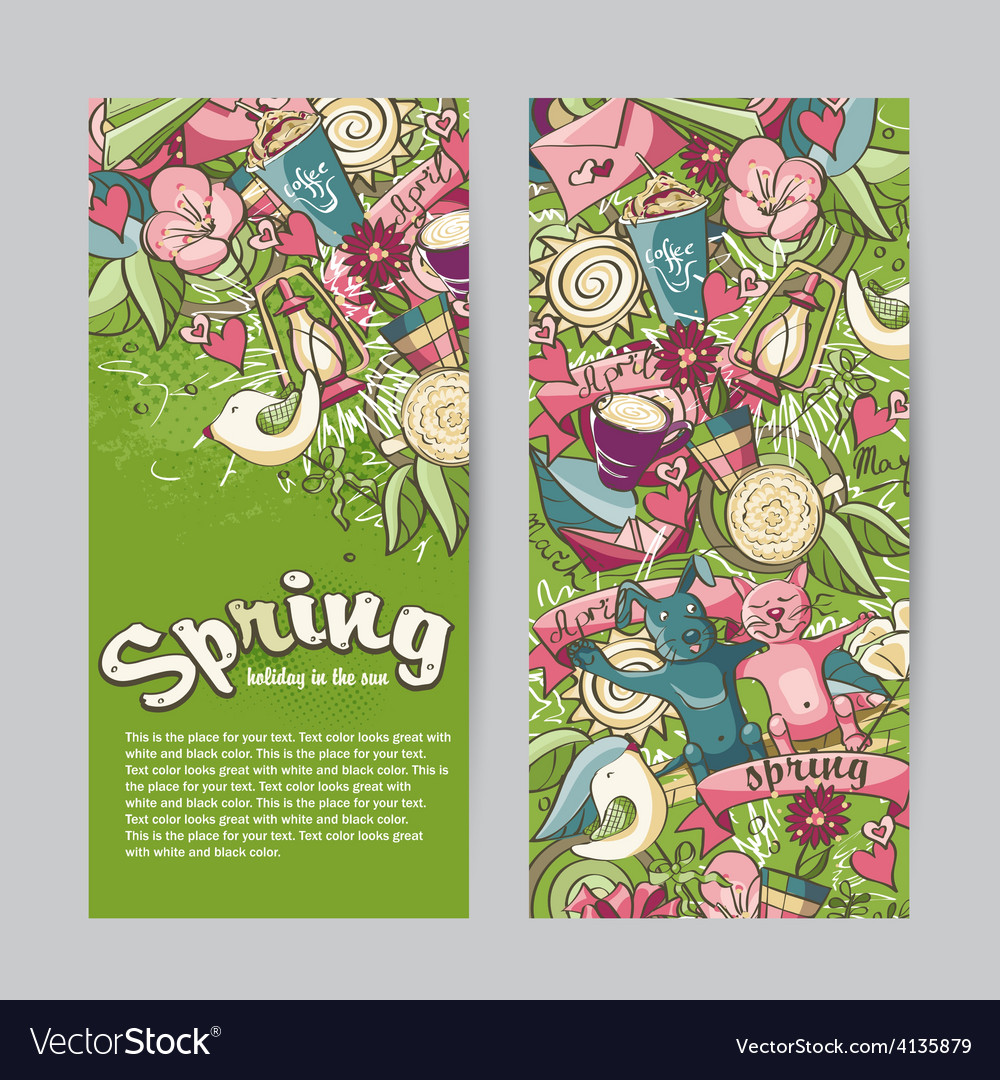 Set of vertical banners on the theme spring vector | Price: 3 Credit (USD $3)
