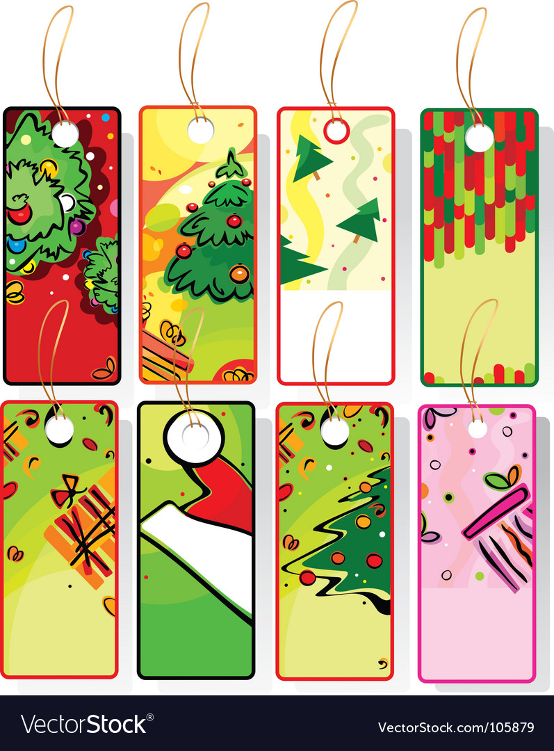 Set of xmas labels vector | Price: 1 Credit (USD $1)
