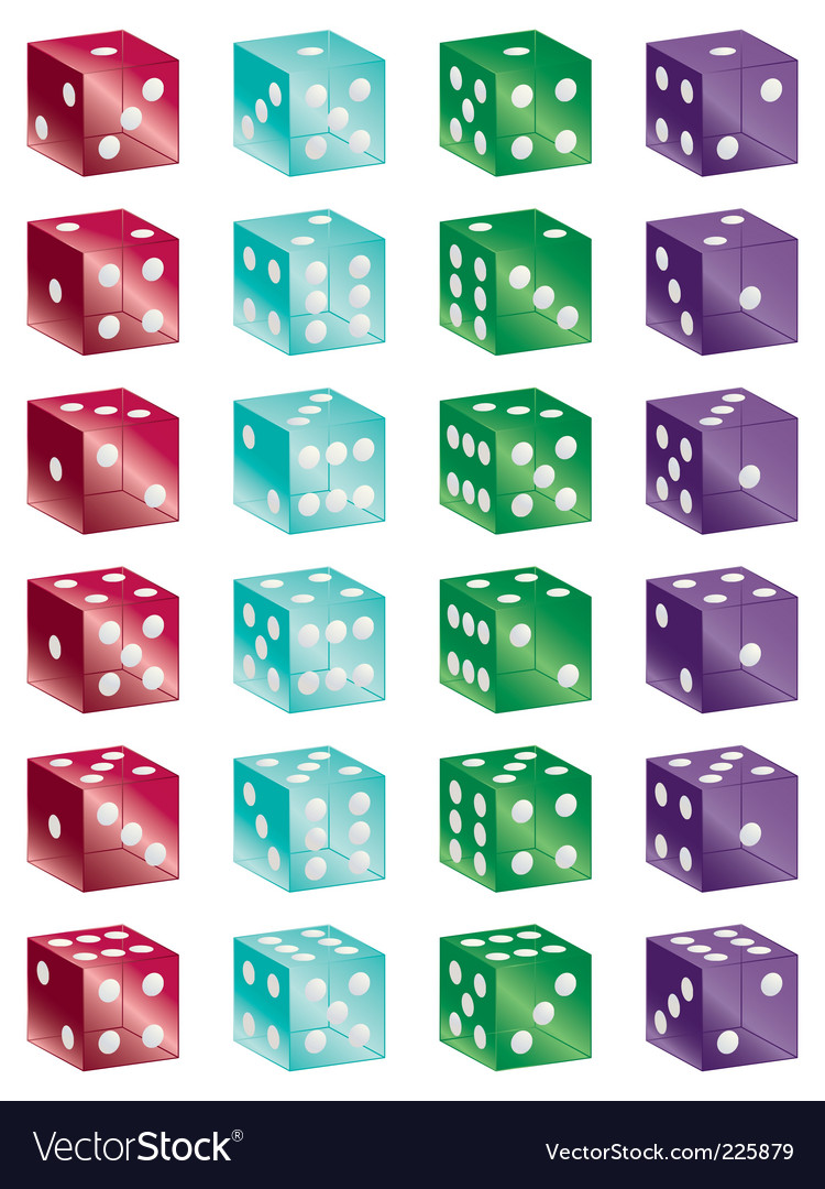 Shiny dice vector | Price: 1 Credit (USD $1)