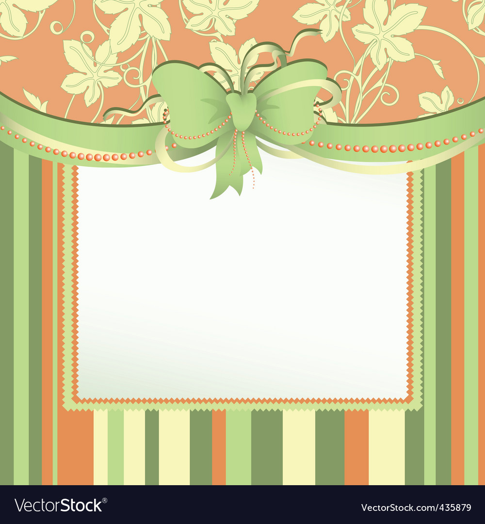 Tag with bow vector | Price: 1 Credit (USD $1)