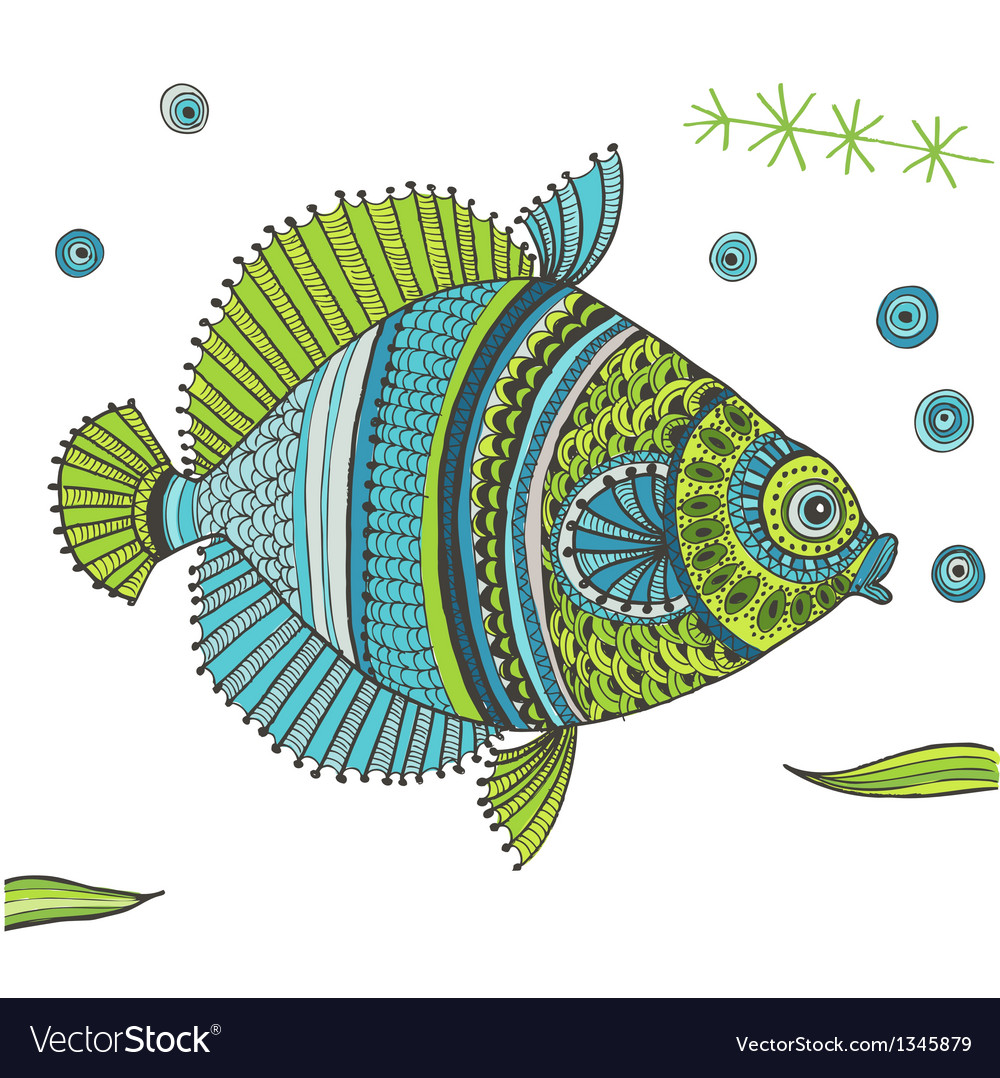 Tropical fish background vector   Price: 1 Credit (USD $1)