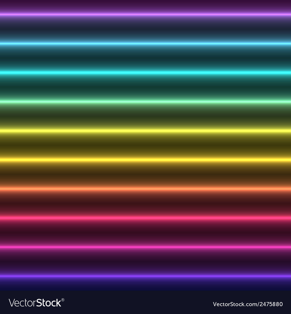 Abstract colorful glow straight lines vector | Price: 1 Credit (USD $1)