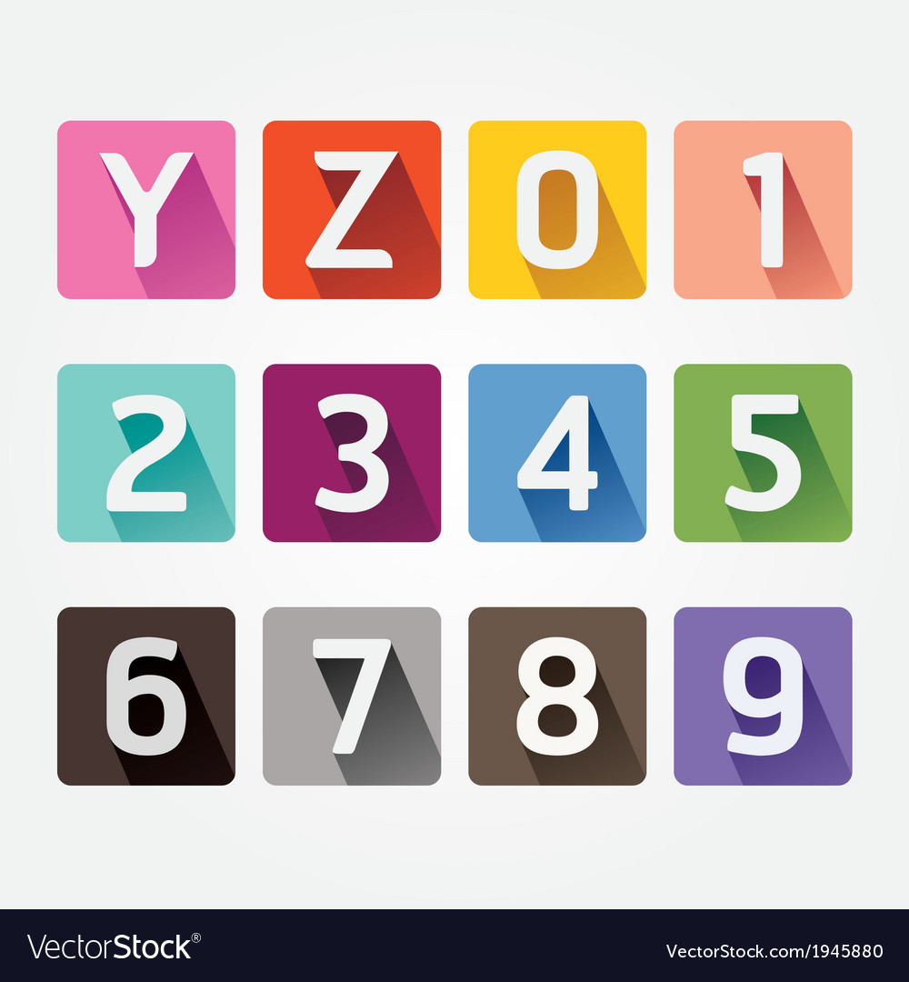 Alphabet colorful font with sahdow style vector | Price: 1 Credit (USD $1)