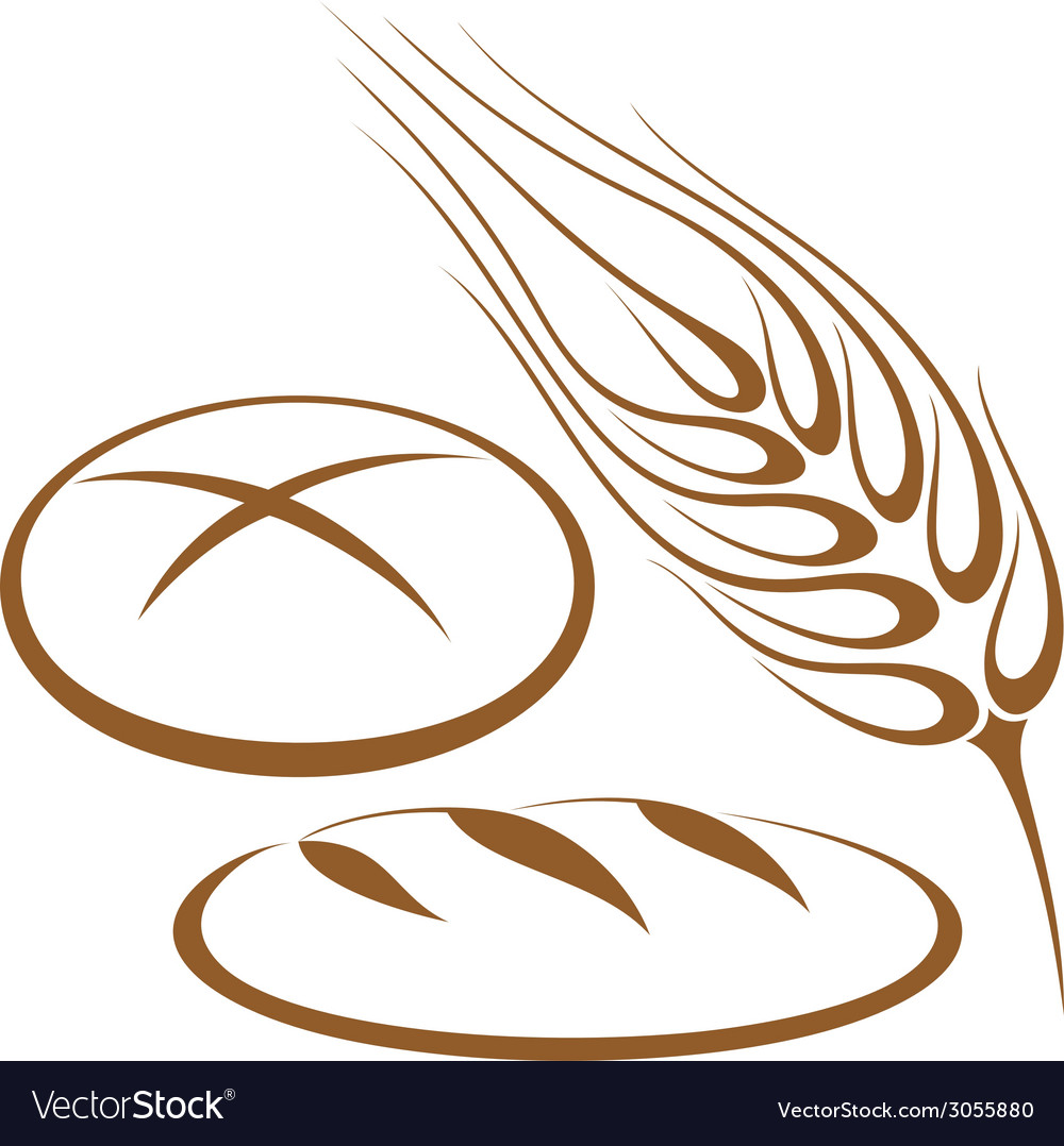 Bakery bread barley vector | Price: 1 Credit (USD $1)