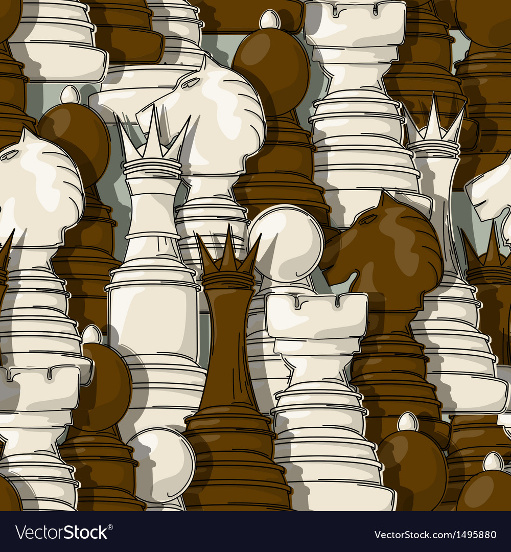 Chess pieces pattern vector | Price: 1 Credit (USD $1)