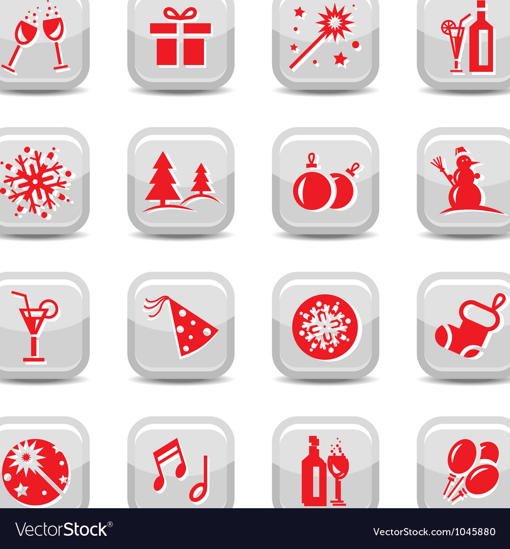 Christmas icon set vector | Price: 1 Credit (USD $1)