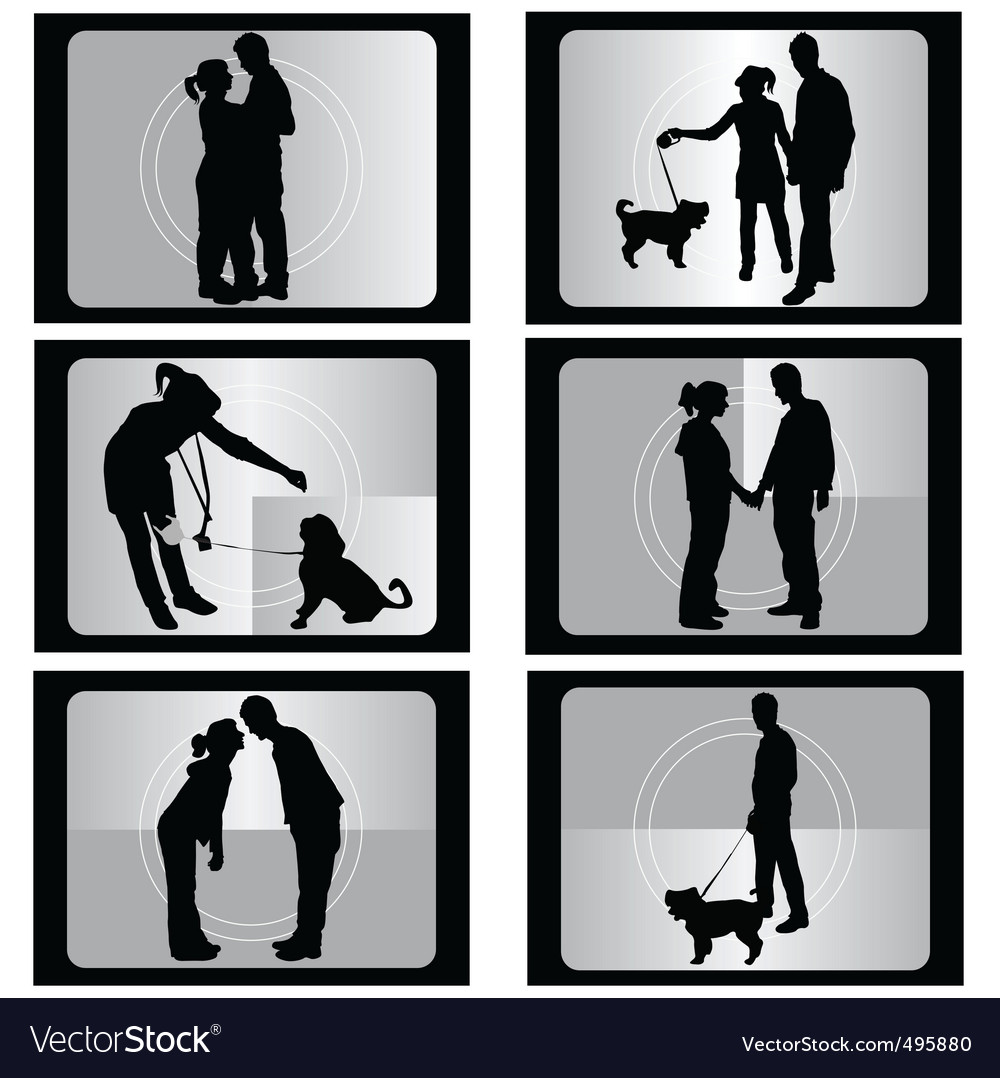 Couple with film vector | Price: 1 Credit (USD $1)